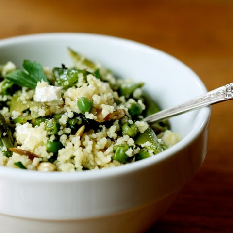 Spring Couscous with Asparagus, Peas and Mint
