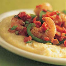 Shrimp, Peppers, and Cheese Grits