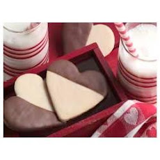 Black & White Heart Cookies