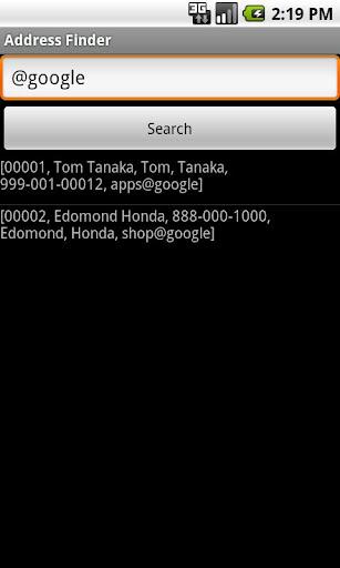 Address Finder