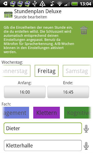 schedule-deluxe-plus for android screenshot