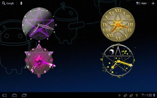 Screenshot of Pentacle Clock Widget HD