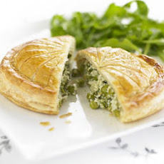 Pea, Tarragon & Cream Cheese Pithivier