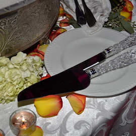 Engraved Knife for Cake by Lorraine D.  Heaney - Wedding Details (  )