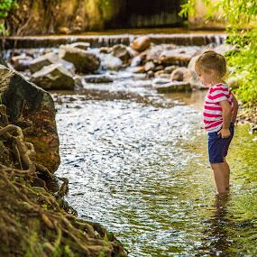 Playing in the River by Glenn Pearson - Babies & Children Children Candids