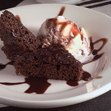 Warm Brownie Sundae Cake