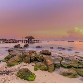 Sihanoukville Sunset by Nila Elect - Landscapes Beaches