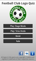 Screenshot of Football Club Logo Quiz