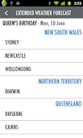 Screenshot of Australian Public Holidays