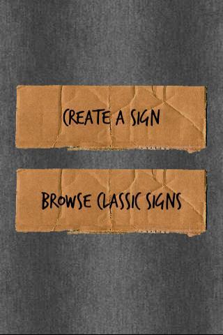 Cardboard Signs Ad Free