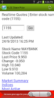 Screenshot of KLSE Share Price