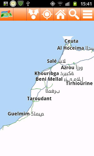 Morocco Offline mappa Map