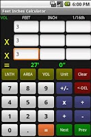 Screenshot of Feet Inch Calculator Free