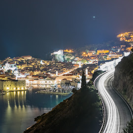 Dubrovnik by Alexandru George - City,  Street & Park  Night ( night photography, night, cityscape, travel photography, city )