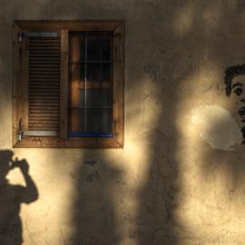 Scared of a shooting shadow by Mike Bing - City,  Street & Park  Historic Districts ( tel aviva, neve zedek, israel )