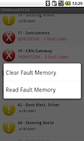 Screenshot of VAG DTC Fault Memory erase