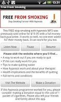 Screenshot of Free From Smoking - Hypnosis