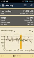 Screenshot of Meter Readings