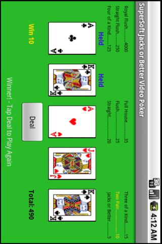SuperSoft Video Poker