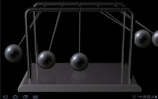 Screenshot of Newton's cradle