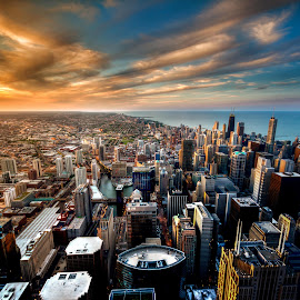 Chicago Sunset by Brandon Thorne - Buildings & Architecture Other Exteriors