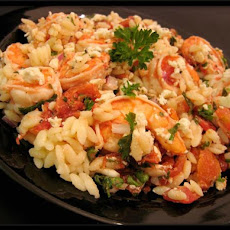 Shrimp W/feta And Orzo