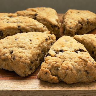 Chocolate Chip-Hazelnut Scones