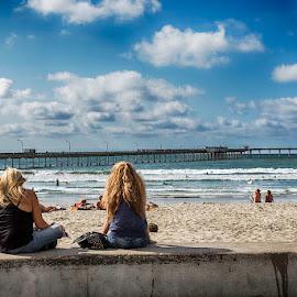 Ocean Beach, CA by Charles Lugtu - People Street & Candids ( beach scene, san diego, hdr, d800, california, lifestyle, bue skies, beach )