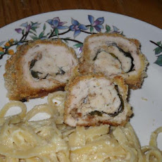 Stuffed Herbed Chicken With Boursin Cheese