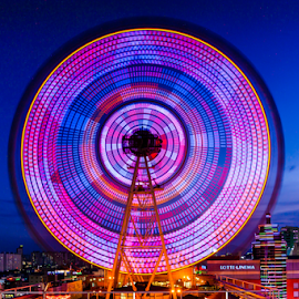 Wheel goes around and round by Keith Homan - City,  Street & Park  Amusement Parks (  )