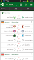 Screenshot of VfL Wolfsburg App