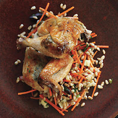 Roasted Cornish Hens with Black-Olive Butter