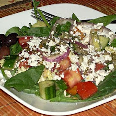 Kittencal's Greek Garden Salad With Greek-Style Dressing