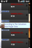 Screenshot of Prayer Times Alert