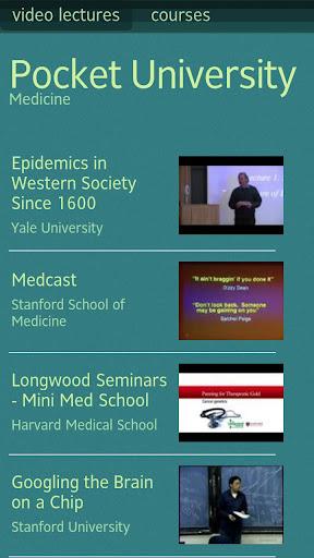 Pocket University: Medicine