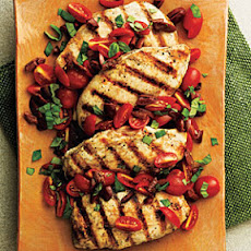 Pan-Seared Chicken with Tomato-Olive Relish