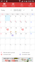Screenshot of MCalendar - Menstrual Calendar