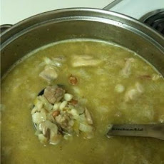 Posole (Mexican soup with pork and hominy)