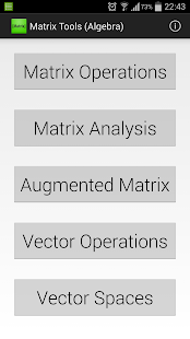 Matrix Tools (Linear Algebra) - screenshot