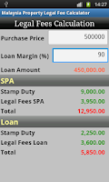 Screenshot of Malaysia Property Legal Fee