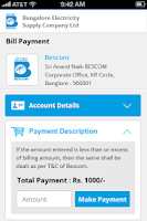 Screenshot of Bescom