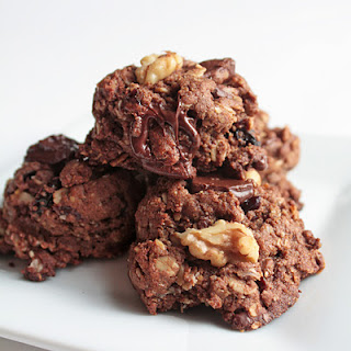 Chocolate Cherry Walnut Cookies