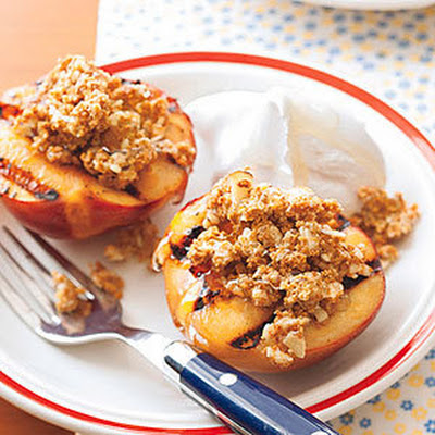 Grilled Amaretti-Stuffed Nectarines