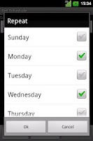 Screenshot of Silence Scheduler