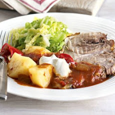 Pot-roast Pork Goulash With Potatoes & Greens