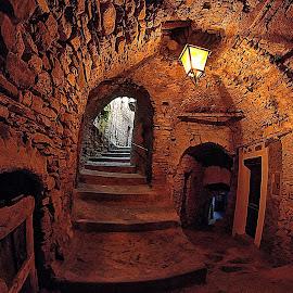 Underground street in Pigna by Roberta Sala - City,  Street & Park  Street Scenes ( pigna, hdr, street, italy, street photography )