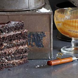Really Decadent Chocolate And Salted Caramel Mousse Cake
