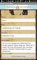 Screenshot of Wanted Poster Maker