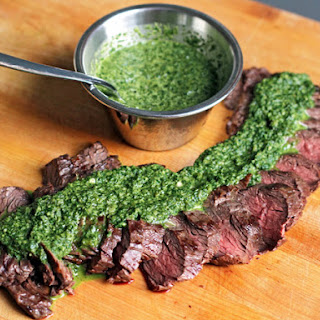 Ted Allen's Grilled Steak with Roasted Jalapeño Chimichurri