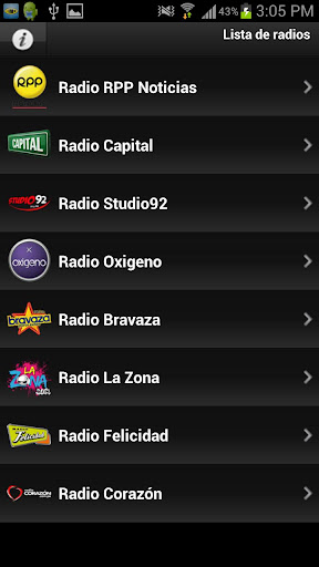 gruporpp-radios for android screenshot